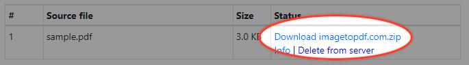 Download result after convertation